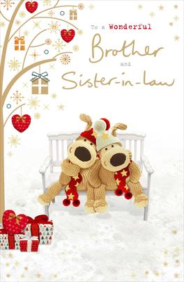 Boofle Brother & Sister-In-Law Christmas Greeting Card