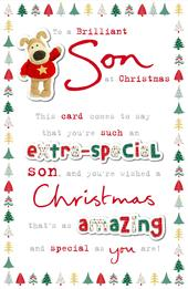 Boofle Brilliant Son Christmas Greeting Card