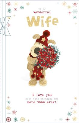 Boofle To My Wonderful Wife Christmas Greeting Card