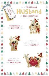 Boofle Brilliant Husband Christmas Greeting Card
