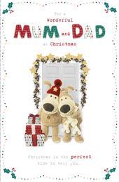 Boofle Wondeful Mum & Dad Christmas Greeting Card