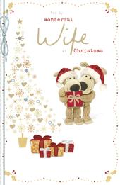 Boofle For My Wonderful Wife Christmas Greeting Card