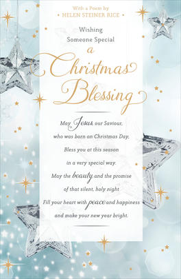 Christmas Blessing Helen Steiner Rice Christmas Greeting Card