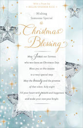 Christmas Blessing Helen Steiner Rice Christmas Greeting Card