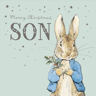 Peter Rabbit For A Son Christmas Greeting Card
