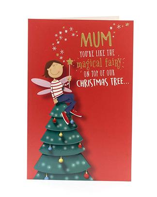Mum Like The Magical Fairy Funny Christmas Greeting Card