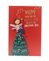 Mum Like The Magical Fairy Funny Christmas Greeting Card