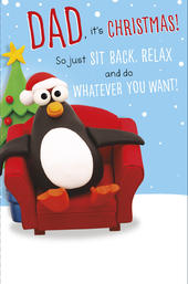 Dad Sit Back Relax Funny Christmas Greeting Card