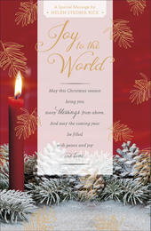 Joy To The Word Helen Steiner Rice Christmas Greeting Card