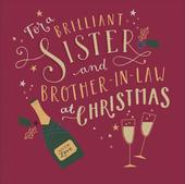 Sister & Brother-In-Law Embellished Christmas Greeting Card