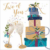 To The Two Of You Embellished Christmas Greeting Card