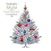 Mum From Your Son Embellished Christmas Greeting Card