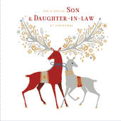 Son & Daughter-In-Law Embellished Christmas Greeting Card
