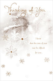 Thinking Of You Traditional Christmas Greeting Card