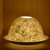 Nordic Lights Stencil Tigers Bone Porcelain Candle Shade