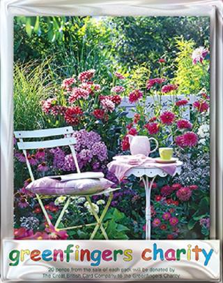 Pack of 4 Summer Tea Greenfingers Blank Charity Greeting Cards