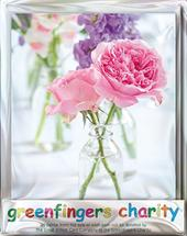 Pack of 4 Summer Cut Flowers Greenfingers Blank Charity Greeting Cards