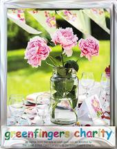 Pack of 4 Peony On Table Greenfingers Blank Charity Greeting Cards