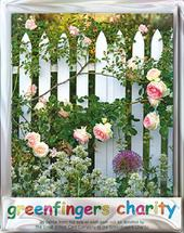 Pack of 4 Rose Garden Greenfingers Blank Charity Greeting Cards
