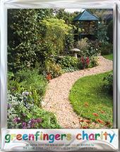 Pack of 4 Garden Gazebo Greenfingers Blank Charity Greeting Cards