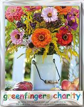 Pack of 4 Harvest Display Greenfingers Blank Charity Greeting Cards