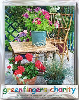 Pack of 4 Blooming Petunias Greenfingers Blank Charity Greeting Cards