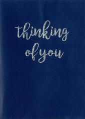 Thinking Of You Glittered Greeting Card