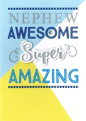 Awesome Nephew Birthday Greeting Card