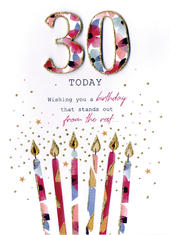 30 Today Female 30th Birthday Greeting Card