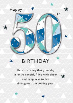 Male Happy 50th Birthday Greeting Card