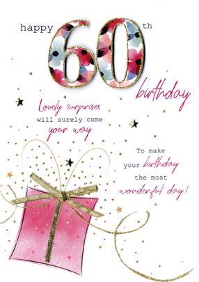 Female Happy 60th Birthday Greeting Card