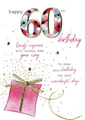 Female Happy 60th Birthday Greeting Card