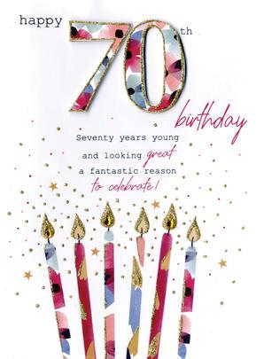 Female Happy 70th Birthday Greeting Card