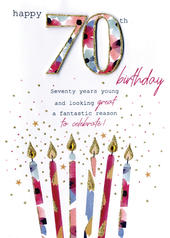 Female Happy 70th Birthday Greeting Card