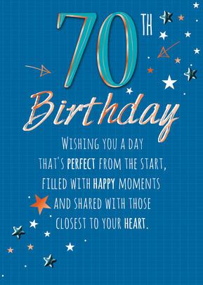 Male 70th Birthday Greeting Card