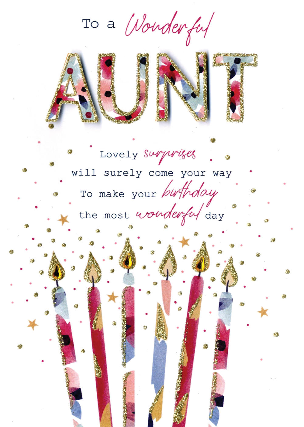 to a wonderful aunt birthday greeting card  cards