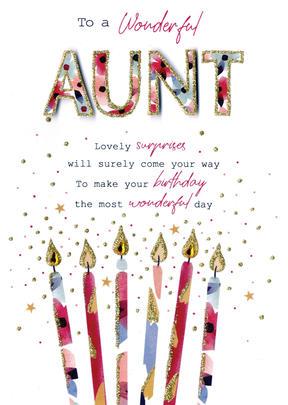 To A Wonderful Aunt Birthday Greeting Card
