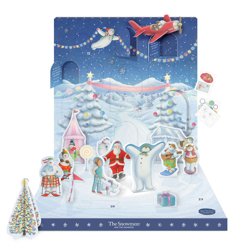 The Snowman Music Box Advent Calendar Novelty Dancing Musical Christmas Advent