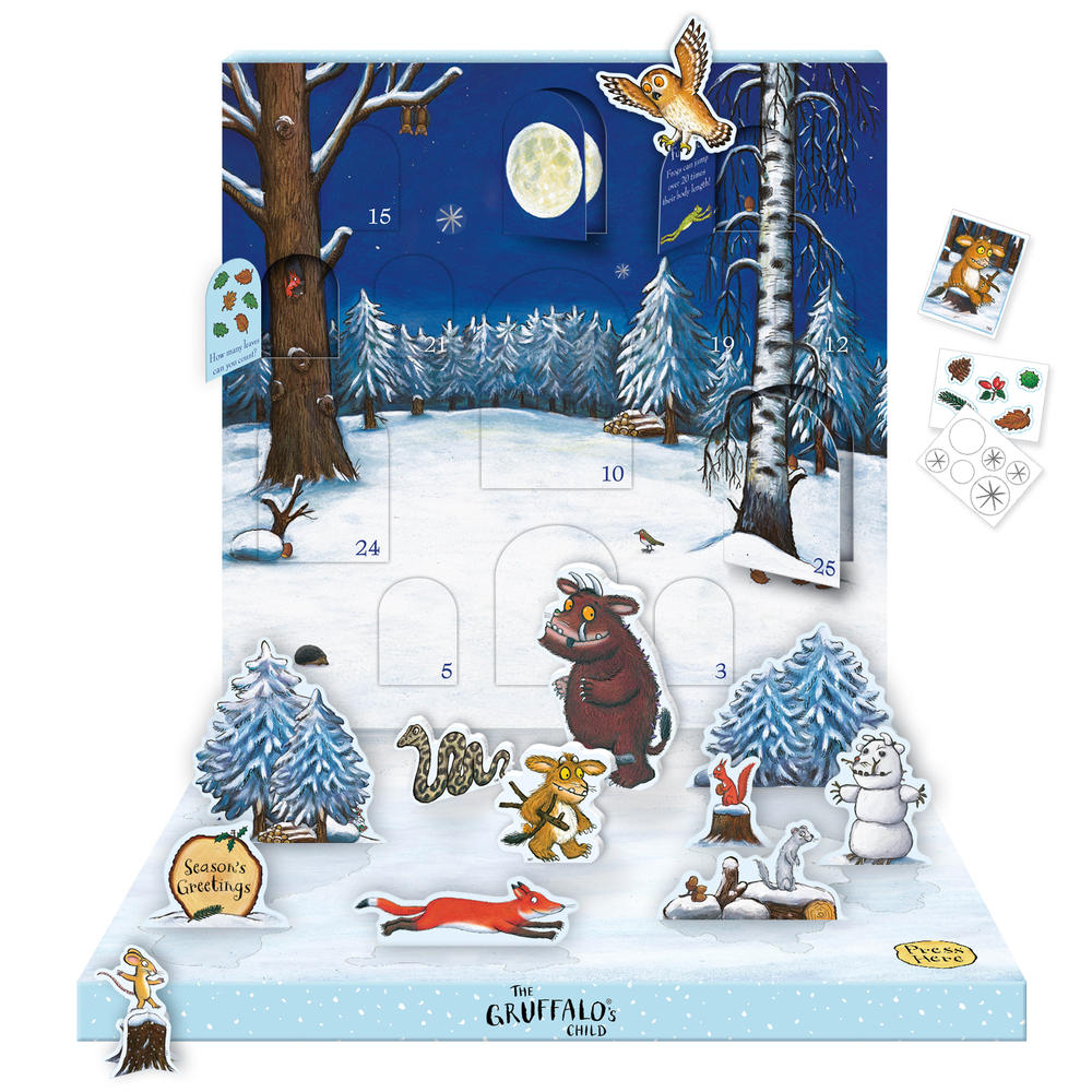 The Gruffalo Music Box Advent Calendar Novelty Dancing Musical Christmas Advent