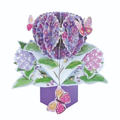 Flowers & Butterflies Pop-Up Greeting Card