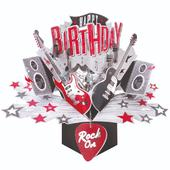 Happy Birthday Rock Pop-Up Greeting Card