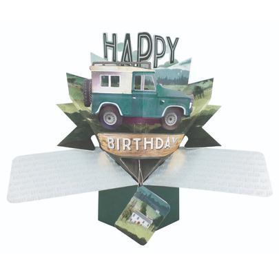 Happy Birthday Jeep Pop-Up Greeting Card