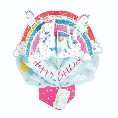 Birthday Unicorns Pop-Up Greeting Card
