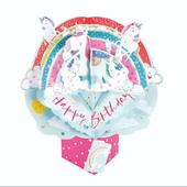 Birthday Unicorns Pop-Up Greeting Card