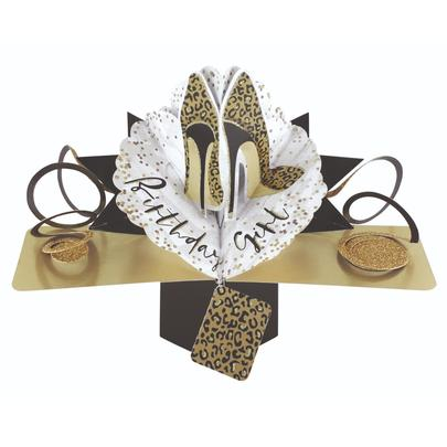 Birthday Girl Shoes Pop-Up Greeting Card