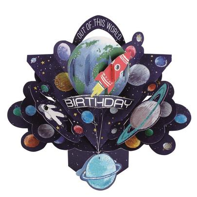 Birthday Space Pop-Up Greeting Card