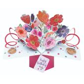 Birthday Flowers Pop-Up Greeting Card
