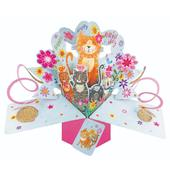 Happy Birthday Cats Pop-Up Greeting Card