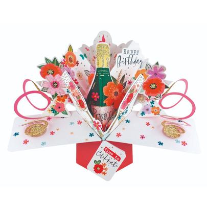 Birthday Prosecco Pop-Up Greeting Card