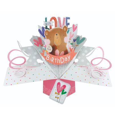 Birthday Cute Bear Pop-Up Greeting Card